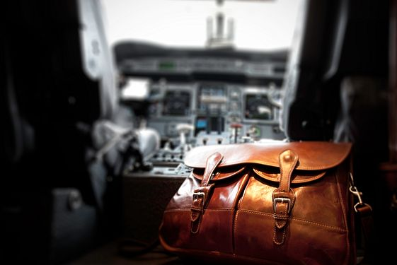 Bag in the pit of an airplane